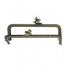 Tasbeugel brons met  strik sluiting  13 cm x 6,8 cm