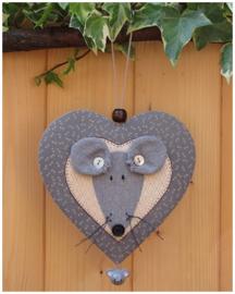 Patroon hanger hart 'Muis'