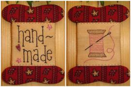 Patroon + materialenpakketje wikkelkaartje 'Handmade'