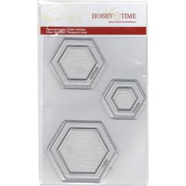 Quiltstempelset voor hexagonnen