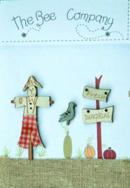 Scarecrow and fresh pumpkins- TBHA5