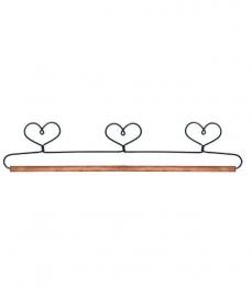 Quilthanger met 3 harten 40 cm