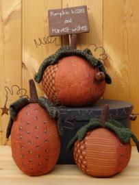 Patroon + materialen 'Happy Pumpkins'