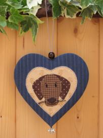 Patroon hanger hart 'Hondje'