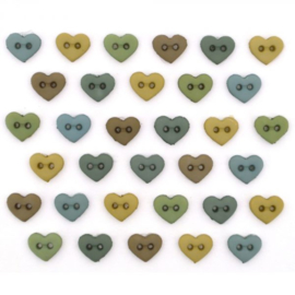 Micro Mini Hearts Earthtones 6 mm