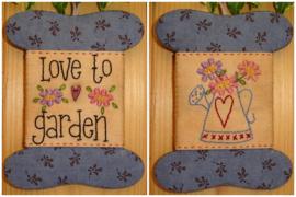 Patroon + materialenpakketje wikkelkaartje 'Love to Garden'