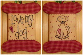 Patroon wikkelkaartje 'Love my dog'