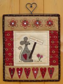 Patroon + materialenpakketje quiltje 'Handmade'