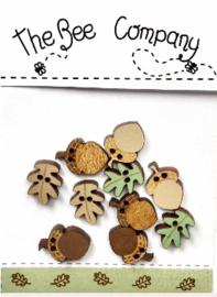 Mini assorted buttons 'Fall' - TBE8B