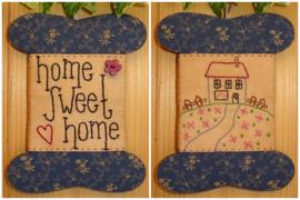 Patroon + materialenpakketje wikkelkaartje 'Home Sweet Home'