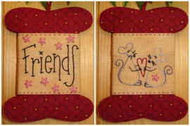 Patroon + materialenpakketje wikkelkaartje 'Friends'