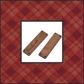 Houten label 'handmade' gieter