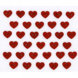 Micro Mini Hearts red
