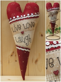 Patroon Hart 'Live Love Laugh'