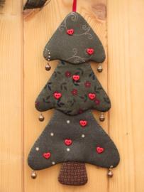 Patroon + materialen hanger 'Kerstboompje' met hartjes