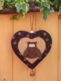 Patroon hanger hart 'Uiltje'