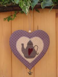 Patroon hanger hart 'Theepot'