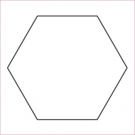 "1 ¼ "" Hexagon"