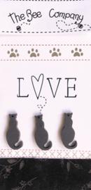 Love Cats donkergrijs - TBM26G