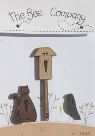 Cat and birdhouse- TB4A