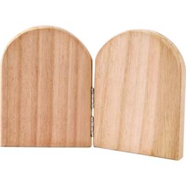 Tweeluikje blank hout