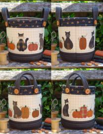 Patroon tasje 'Katten en pompoenen'