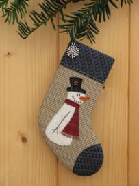Patroon kerstsok 'Sneeuwpop'