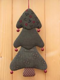 Patroon + materialen hanger 'Kerstboompje' met rode kralen