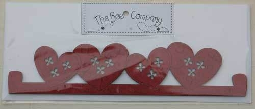 Red heart hanger 20 cm - TBC3
