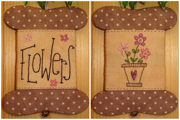 Patroon wikkelkaartje 'Flowers'