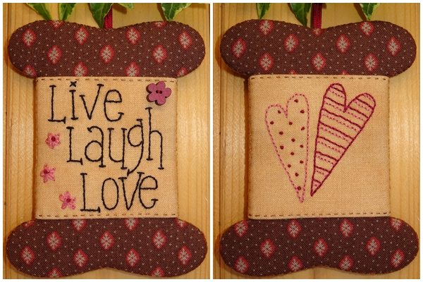 Patroon wikkelkaartje 'Live Love Laugh'