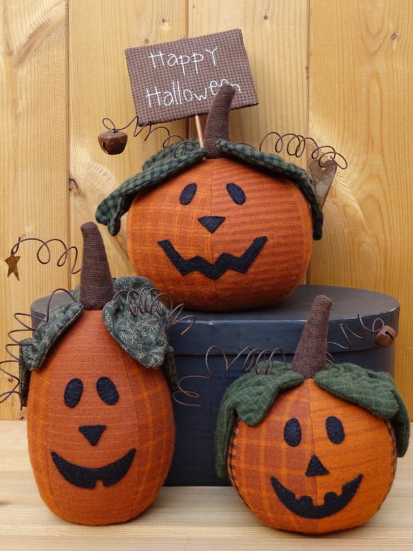 Patroon 'Halloween Pumpkins'