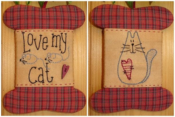 Patroon wikkelkaartje 'Love my cat'