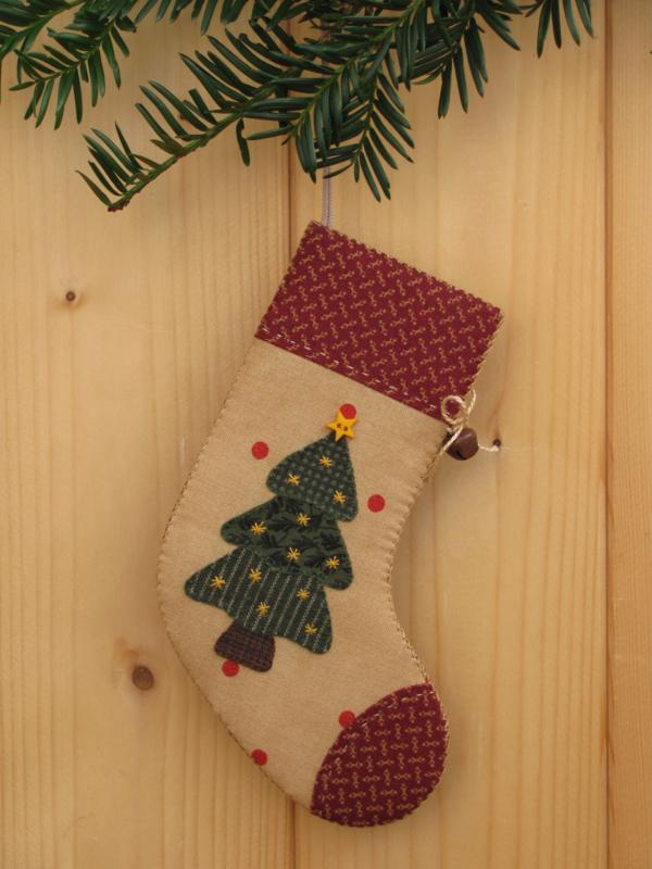 Patroon + materialenpakketje kerstsok 'Kerstboom'