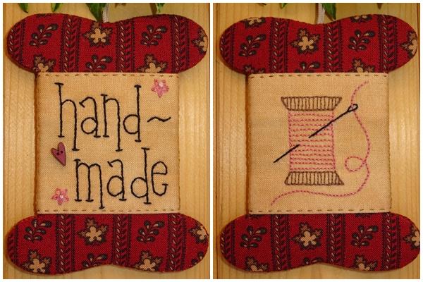 Patroon wikkelkaartje 'Handmade'