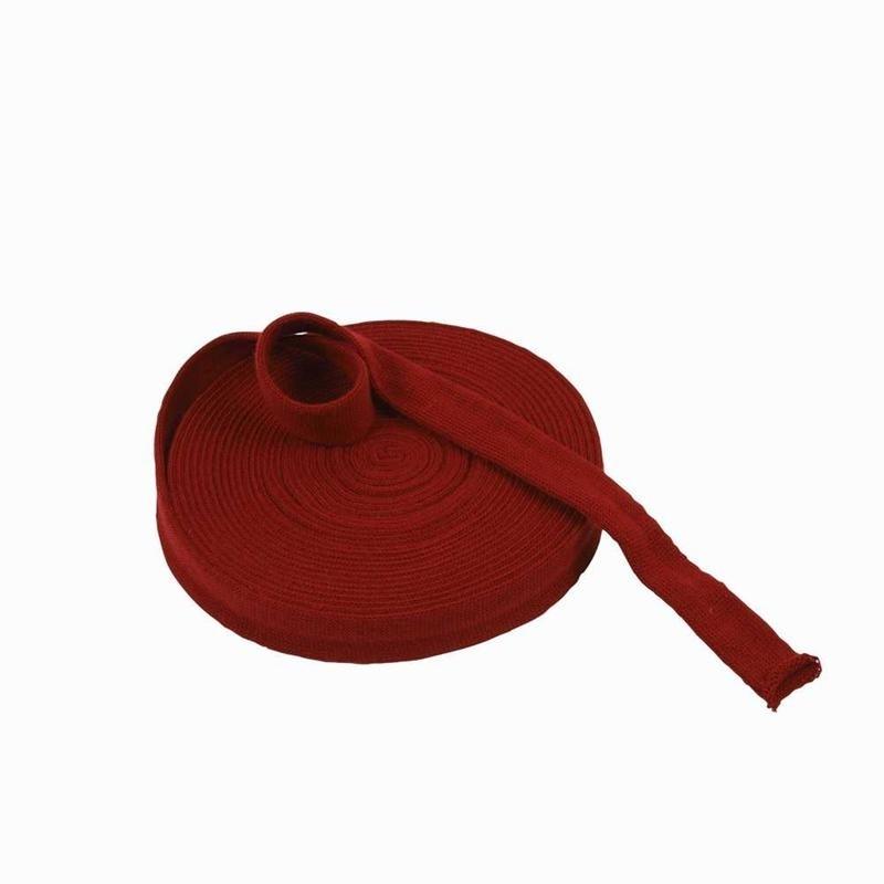 Rondgebreide tube 3 cm antiek rood