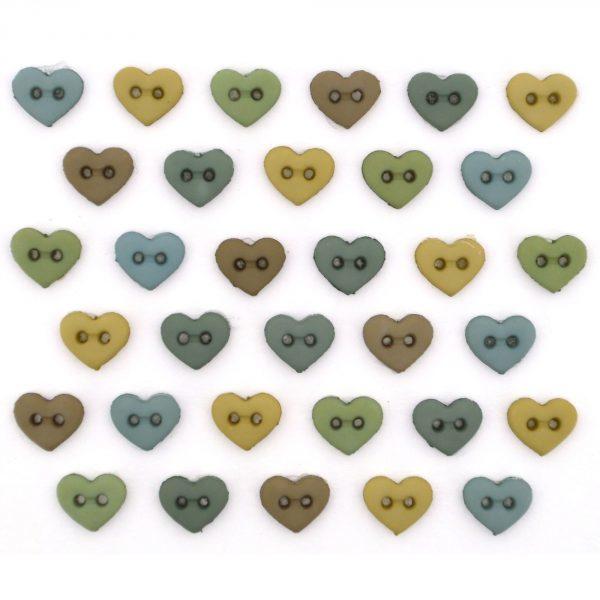 Micro Mini Hearts Earthtones 6 mm