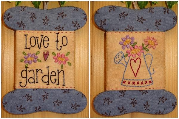 Patroon wikkelkaartje 'Love to garden'
