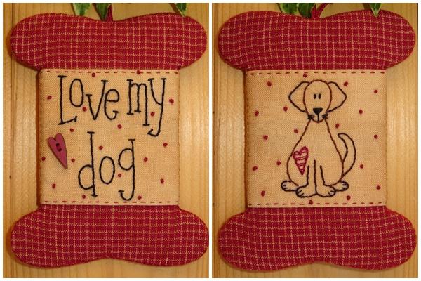 Patroon wikkelkaartje 'Love my dog'