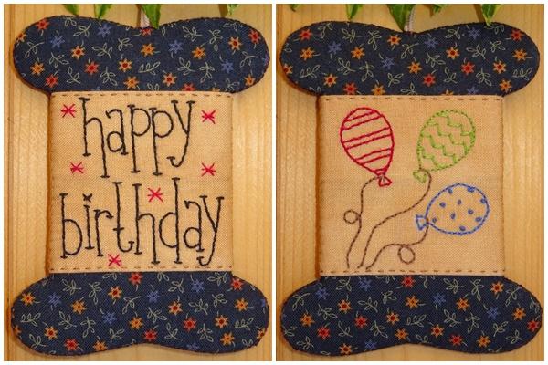 Patroon wikkelkaartje 'Happy Birthday'