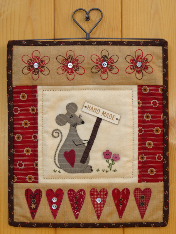 Patroon quiltje 'Handmade'