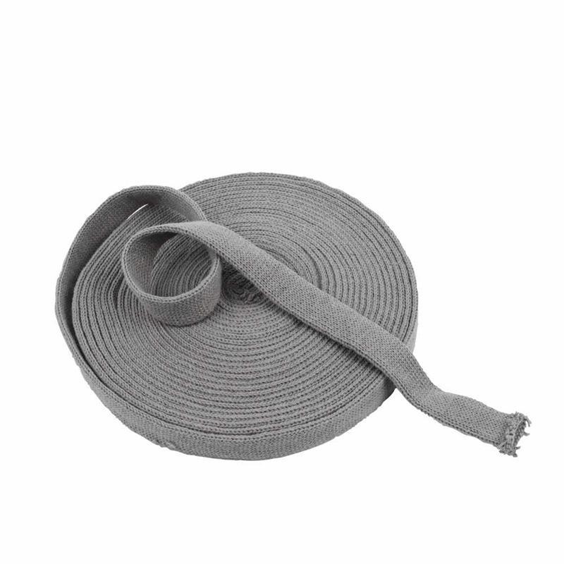 Rondgebreide tube 2,2 cm grijs