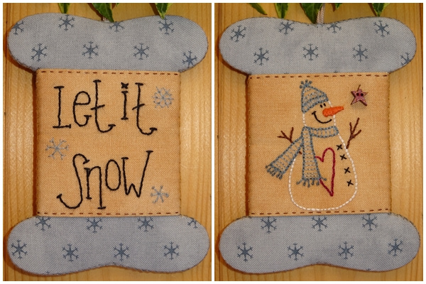 Patroon wikkelkaartje 'Let it Snow'