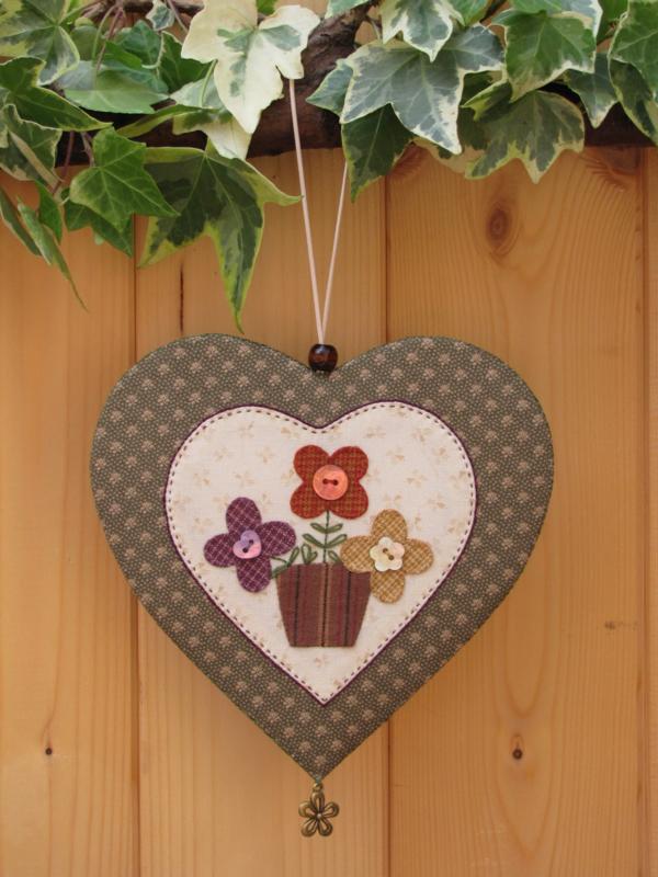 Patroon hanger hart 'Bloemen'