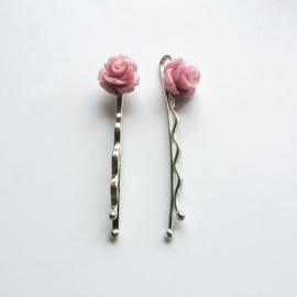 US12 Haar schuifspeldjes (roze)
