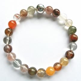 0027 Bergkristal / Rutiel (bruine tinten)