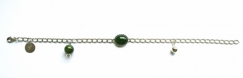 US08 Fantasie armband met jade