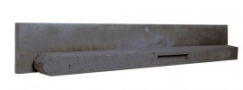 Beton paal voor schermen van 90cm hoog ( antraciet) ronde kop