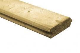 Blokhut profiel geschaafd 28x127x3000 Geimpregneerd