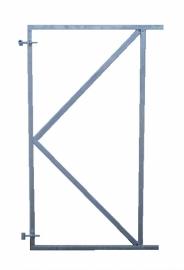Poortframe 100x180cm voor horizontale montage van de planken